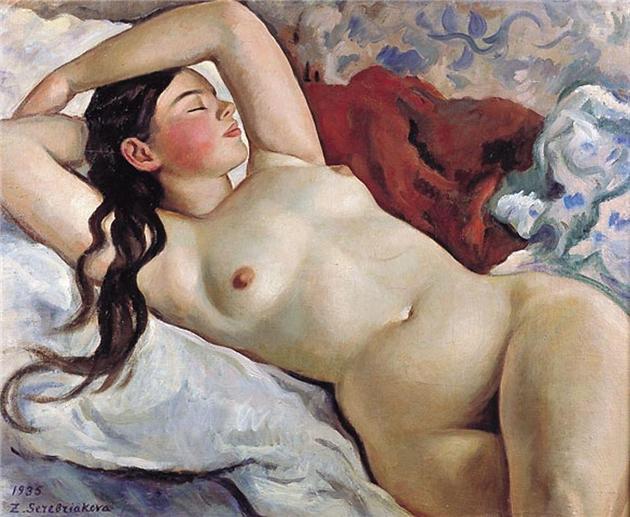 Портрет обнаженной женщины.  З.Е.Серебрякова.