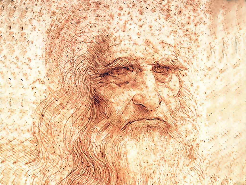 Автопортрет Леонардо да Винчи.  Фото. Картинка. Фотография